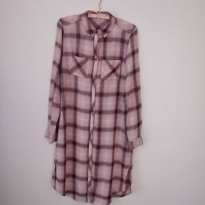 Light flannel long shirt or dress...your prefrence
